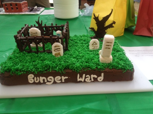 "The Monroe County History Museum's cemetery committee ""cemetery cake"""